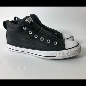 Converse Men's Ct Street Mid Sneakers Black/White
